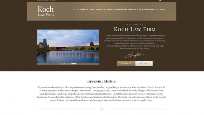 koch law firm 39 s new website koch law firm